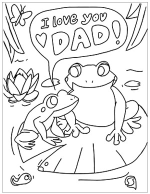Inspirational coloring page for Father's Day
